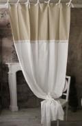 レースカーテン(AMELIE・B-5)【Blanc Mariclo ブランマリクロ】イタリア直輸入 カーテン 間仕切り 紐タイプ シャビーシック
