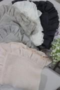 ★イタリア直輸入★BORGO DELLE TOVAGLIE(ボルゴ デレ トヴァーリ) フリルナプキン リネン100%(麻) 輸入品 シャビーシッ