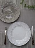 アンティークな輸入食器 ディナープレート ディナー皿(RUA NOVA/GY/WH) ボルダロ・ピニェイロ ポルトガル製 おしゃれ シャビー