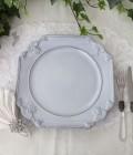 アンティークな輸入食器 ディナー皿 ディナープレート (ルネッサンス/グレー) ボルダロ・ピニェイロ ポルトガル製 おしゃれ シ