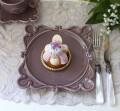 アンティークな輸入食器 ケーキプレート ケーキ皿(ヴィエナ/パープル) ボルダロ・ピニェイロ ポルトガル製 おしゃれ シャビー