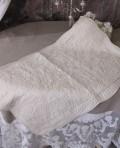 ペールベージュキルト マット(50×80cm)キッチンマット  キルティング 布製 アンティーク風 フレンチカントリー シャビーシッ