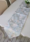 撥水 テーブルランナー ブルーフラワー 30×230cm はっ水 ジャガード織 布製 テーブルセンター ドイリー フラワー 花柄 テーブ