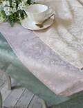 プチトリアノン テーブルクロス  撥水 長方形 130×230cm (ピンクベージュ・ライラック・グリーン) 可愛い 洗濯可 はっ水 ヨー