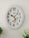 ロココ調のローズクロック(音がしないスイープタイプ) 掛時計 白色 アンティーク 雑貨 アンティーク風 姫系 antique