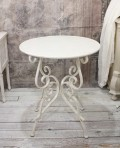 ホワイトアイアン・ティーテーブル コーヒーテーブル 丸テーブル ホワイト アイアン製 シャビーシック アンティーク 雑貨 ア