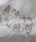 トリアノン フラワーキルト マット(50×80cm)キッチンマット  キルティング 布製 アンティーク風 フレンチカントリー シャビ