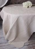 ペールベージュキルト(200×250)リバーシブル  キルトラグ キルティングスロー キルティング マルチカバー キルティングラ