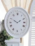 アンティークな掛け時計 木製 ホワイト カントリーコーナー Country Corner ROMANCE ロマンス・コレクション オーバル掛け時計