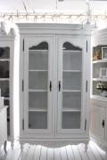 アンティークな白家具 ガラスキャビネット (121181) カントリーコーナー 【Country Corner】 ROMANCE ロマンス・コレクション フ