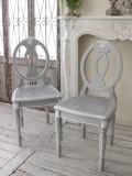 ダイニングチェア 藤座 カントリーコーナー Gustavienコレクション チェア グレー アンティーク風 フランス 椅子 シャビーシック