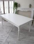 (在庫限りで廃盤)アンティーク風のお洒落なダイニングテーブル ホワイト カントリーコーナー Country Corner Gustavienコレク