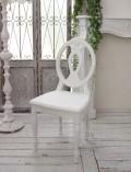アンティークなダイニングチェア ホワイト・木座 椅子 カントリーコーナー 【Country Corner】 Gustavienコレクション ダイニン