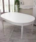 (在庫限りで廃盤)ダイニングテーブル 白 アンティークな木製ダイニングテーブル アンティークホワイト アンティーク調 オーバ