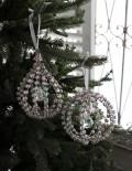 ★SALE★ クリスマスオーナメント♪ (ジュエルオーナメント・2種) シャビーシック 北欧 フレンチ ロマンティック ラ