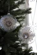 ★SALE★ クリスマスオーナメント♪ (グラスメダリオンオーナメント) シャビーシック 北欧 フレンチ ロマンティック