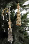 ★SALE★ クリスマスオーナメント♪ (ビーズタッセル・2種) シャビーシック 北欧 フレンチ ロマンティック ラインス