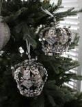 ★SALE★ クリスマスオーナメント♪ (ジュエルクラウンオーナメント・王冠) シャビーシック 北欧 フレンチ ロマンティ