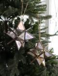 クリスマスオーナメント♪ (3Dスターオーナメント・2種) シャビーシック 北欧 フレンチ ロマンティック ラインストー