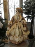 ★SALE・30★ クリスマスオーナメント♪ (ヴィクトリアンキャット・猫の貴婦人 クリーム系) 猫の置物 人形 キャット