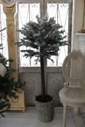 ★SALE★ クリスマスオーナメント♪ (フロストバスケットツリー・トピアリー) クリスマスツリー トピアリー 造花 シャ