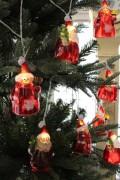 ★SALE★ クリスマスオーナメント♪ (LEDサンタ&スノーマンガーランド) 電飾 飾り 電池 シャビーシック 北欧 フ