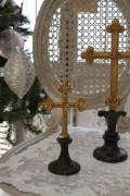 クリスマスオーナメント♪ (クロスオブジェS・十字架) シャビーシック フレンチ ロマンティック ヴィクトリアン クリス