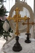 クリスマスオーナメント♪ (クロスオブジェ L・十字架) シャビーシック フレンチ ロマンティック ヴィクトリアン クリ