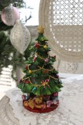 ★SALE★ 【ミュージック・クリスマスツリーオルゴール】 オルゴール 置物 シャビーシック フレンチ ロマンティック 可