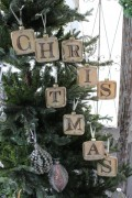 ★SALE★ クリスマスオーナメント♪ (グラスX'masレターオーナメントセット) クリスマスツリー シャビーシック 北欧 フ