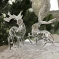 クリスマス 置物 アクリルディアーデコ2個セット 6107 トナカイの置物 鹿 オブジェ クリスマスツリー シャビーシック 北欧