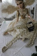 ★SALE・40★ クリスマスオーナメント♪ (クリスタルフェーン・ゴールド系) 造花 シャビーシック フレンチ ロマンテ