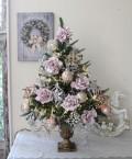 (SALE30)スタイルロココオリジナル クリスマスツリーセット2019(ローズモチーフ)オブジェ クリスマスツリー シャビ