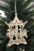 クリスマスオーナメント (カルーセル アイボリー)木馬 アンティーク風 シャビーシック 北欧 フレンチ ロマンティック 可愛