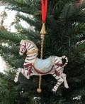 クリスマスオーナメント (ゼブラカルーセル・シマウマ)アンティーク風 シャビーシック 北欧 フレンチ ロマンティック 可