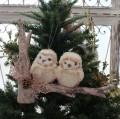クリスマスオーナメント (ピンクトゥーオウルズ・フクロウ)アンティーク風 シャビーシック 北欧 フレンチ ロマンティック