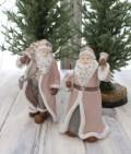 クリスマス置物 (サンタオブジェ ピンク2種)アンティーク風 シャビーシック 北欧 フレンチ ロマンティック 可愛い クリ