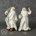 クリスマス置物 (サンタオブジェ ホワイト2種8124)アンティーク風 シャビーシック 北欧 フレンチ ロマンティック 可愛い