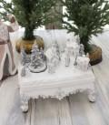 クリスマス置物 (LEDビレッジオンテーブル 置物)アンティーク風 シャビーシック 北欧 フレンチ ロマンティック 可愛い