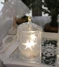 クリスマス置物 (アクリルライトキャンドルS LED)アンティーク風 シャビーシック 北欧 フレンチ ロマンティック 可愛