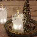 クリスマス置物 (アクリルライトキャンドルS LED8093)アンティーク風 シャビーシック 北欧 フレンチ ロマンティック
