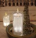 クリスマス置物 (アクリルライトキャンドルL LED8092)アンティーク風 シャビーシック 北欧 フレンチ ロマンティック