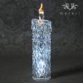クリスマス置物 (アクリルダイヤモンドキャンドルM LED6741)アンティーク風 シャビーシック 北欧 フレンチ ロマンティ