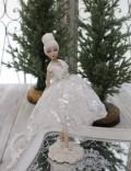 クリスマス置物 (ワンダーランドプリマ バレリーナ 置物)アンティーク風 シャビーシック 北欧 フレンチ ロマンティック