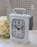 アンティーク・スウェルクロック(ホワイト)♪ 置時計 白色 シャビーシック フレンチカントリー アンティーク 雑貨 アンティーク