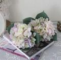可愛い造花 ピンクハイドランジアブーケ【シルクフラワー・アーティフィシャルフラワー】 紫陽花 花束 造花