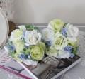 可愛い造花 クリームローズ ハイドブーケ シルクフラワー アーティフィシャルフラワー 薔薇 花束 造花 ナチュラル かわいい アン