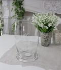 アンティークなガラス製の花瓶 【フランス コテターブル】 フォトフォール ガラス製 COTE TABLE シャビーシック アンティー