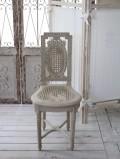 ★フランス直輸入★ Coquecigrues コクシグル フランス家具 ミニチェア・四角型 CHCON・gris antique シャビーシック アンティー