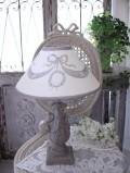 Coquecigrues コクシグル フランス★ 卓上ランプ・テーブルランプ(リボンウッド×リボンシェード) LED リボンモチーフ